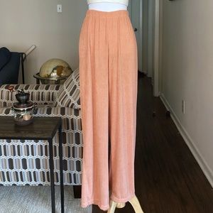 Vintage Peach Knit High Rise Soft Pants